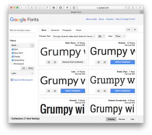Google Fonts - Choose